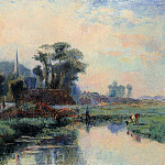 Albert-Charles Lebourg - The Banks of the Durdent