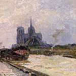 Albert-Charles Lebourg - Notre Dame de Paris View from Pont de la Tournelle