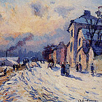 Albert-Charles Lebourg - Banks of the Seine Winter at Herblay