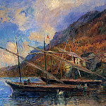 Albert-Charles Lebourg - Boats by the Banks of Lake Geneva at Saint Gingolph