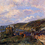 Albert-Charles Lebourg - Near Rouen the Cliffs of Saint Adrien