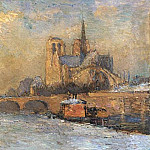 Albert-Charles Lebourg - The Quay de La Tounelle and Notre Dame Paris