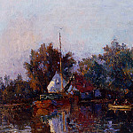 Albert-Charles Lebourg - Canal in Holland near Rotterdam