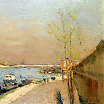 Albert-Charles Lebourg - Quay on the Seine Spring Morning