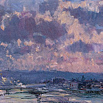 Albert-Charles Lebourg - The Seine and the Faubourt Saint Server Sky Study