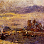 Albert-Charles Lebourg - Paris the Seine and Notre Dame