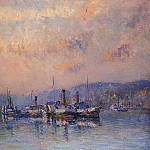 Albert-Charles Lebourg - At Anchor near Rouen