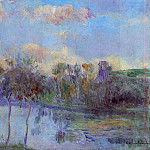 Albert-Charles Lebourg - The Pond at Chalou Moulineux near Etampes