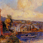Albert-Charles Lebourg - The Seine at La Bouille