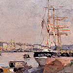 Albert-Charles Lebourg - The Port of Rouen with Cathedral