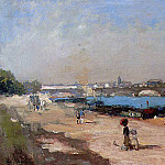 Albert-Charles Lebourg - The Banks of the Seine at Bercy