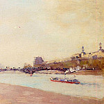 Albert-Charles Lebourg - Paris the Seine and the Pont des Saint Peres with the Louvre