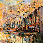 Albert-Charles Lebourg - The Canal at Charenton