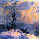 Albert-Charles Lebourg - The Small Branch of the Seine at Bas Meudon Snow and Wiinter