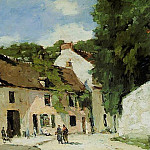 Albert-Charles Lebourg - Rue a Mortefontaine 1880