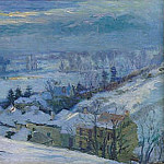 Albert-Charles Lebourg - The Village of Herblay under Snow 1895