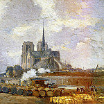 Albert-Charles Lebourg - Notre Dame de Paris View from the Quai de la Tournelle