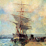 Albert-Charles Lebourg - Ship in Harbour Rouen