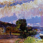 Albert-Charles Lebourg - The Banks of the Seine Caumont in Summer