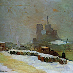 Albert-Charles Lebourg - View of Notre Dame Winter 1894