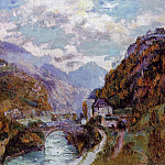 Albert-Charles Lebourg - The Rhone at Saint Maurice Valais aka Switzerland