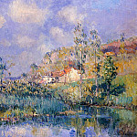 Albert-Charles Lebourg - The Pond at Eysies