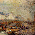 Albert-Charles Lebourg - The Small Arm of the Seine at Pont Neuf