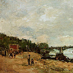 Albert-Charles Lebourg - Paris the Bridge of Saint Peres