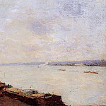 Albert-Charles Lebourg - Barges on the Seine near Paris