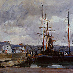 Albert-Charles Lebourg - The Port of Rouen Grey Weather