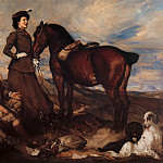 George Lambert - Miss Alison Preston and John Proctor on Mearbeck Moor