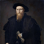 Lorenzo Lotto - Portrait of a gentleman with gloves