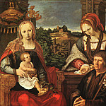 Madonna and Child with Mary Magdalene and a Donor, Lucas Van Leyden
