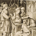 David Playing the Harp Before Saul, Lucas Van Leyden