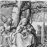 The Virgin and Child in a Landscape, Lucas Van Leyden