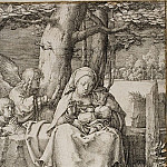 Virgin and Child with Two Angels, Lucas Van Leyden