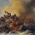 Philip James de Loutherbourg - Battle at Sea between Soldiers and Oriental Pirates