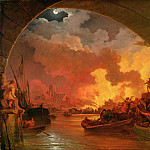 Philip James de Loutherbourg - The Great Fire of London