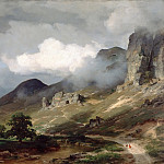 Friedrich August Von Kaulbach - Eifel Landscape during a Thunderstorm