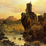 Karl Friedrich Lessing - Knights Castle on a Rock