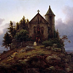 Karl Friedrich Lessing - The Forest Chapel