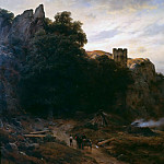 Karl Friedrich Lessing - Castle in the Eifel