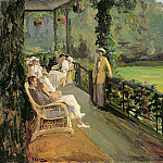 Sir John Lavery - The Verandah