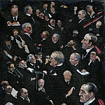 Sir John Lavery - Studies in the House of Lords, Viscount Morley moving the Address 14th December 1921