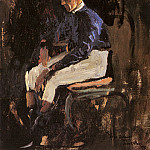 Sir John Lavery - A Portrait Of Joe Childs, The Rothschilds Jockey