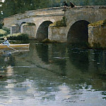 Sir John Lavery - The Bridge at Grez