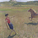 Sir John Lavery - Schooling the Pony