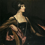 Sir John Lavery - A Lady in Black: Portrait of Jean Ainsworth, Viscountess Massereene and Ferrard