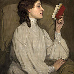 Sir John Lavery - Miss Auras The Red Book
