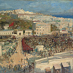 Sir John Lavery - The Moorish Flag, Hoisted on the German Legation, Tangier 15th January 1920